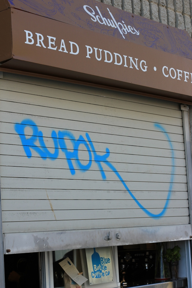 blue bottle coffee blue graffiti