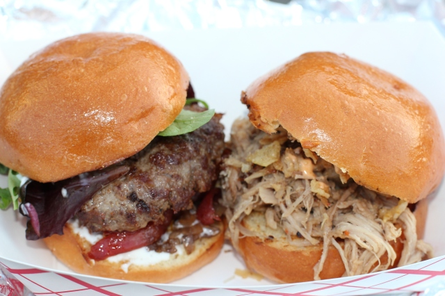 beef and pork sliders