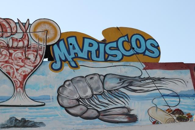 mariscos sign
