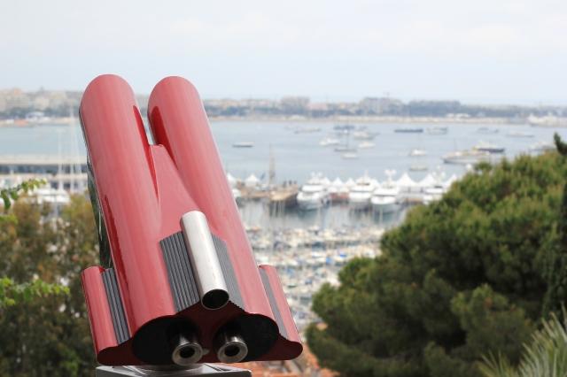binoculars bay of cannes