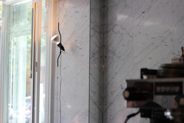le dauphin restaurant paris marble light fixture