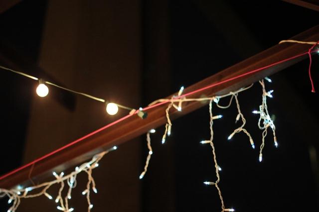 bulbs on a string