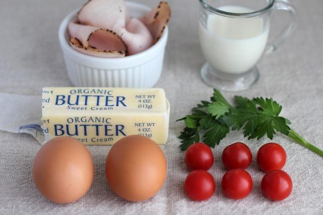 baked eggs mise en place