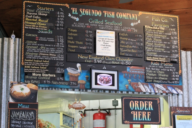el segundo fish co menu