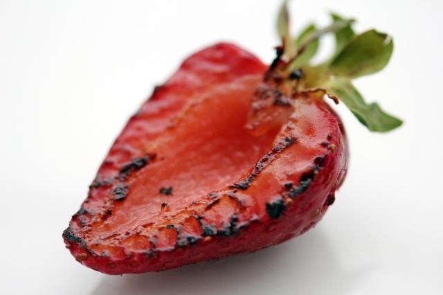 seared strawberry