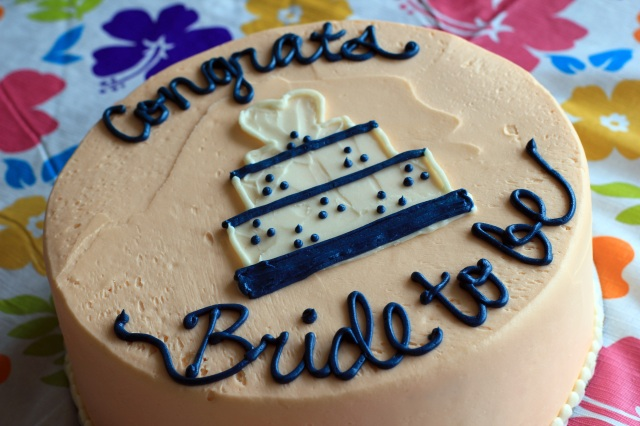 bride to be cake from susiecakes