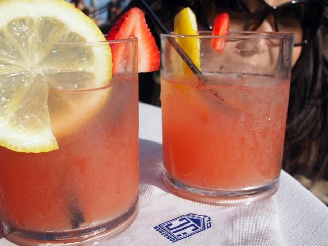 brooke & jon's wedding strawberry lemonade cocktails