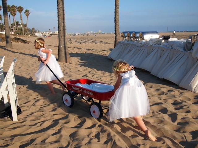 brooke & jon's beach wedding flower girls