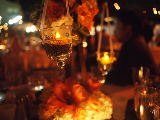 brooke & jon's wedding dinner table