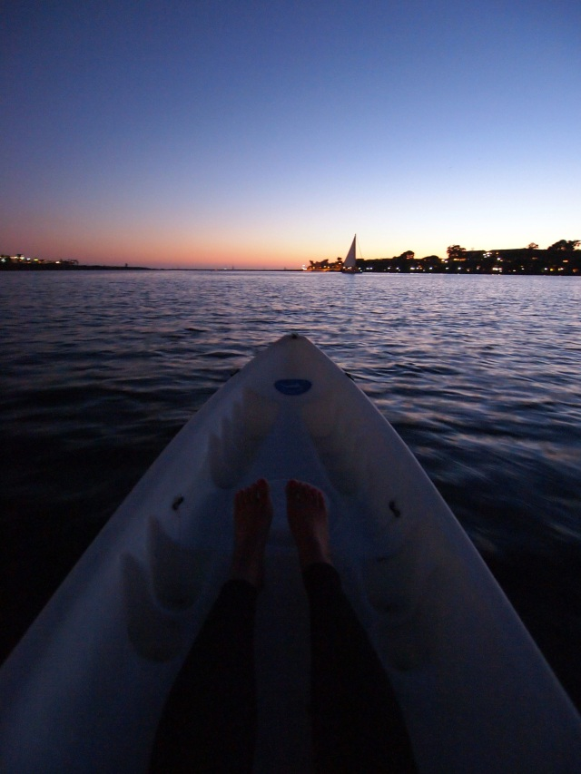 sunset kayak