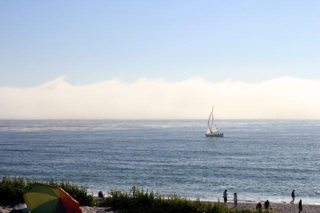 carmel beach sailboat