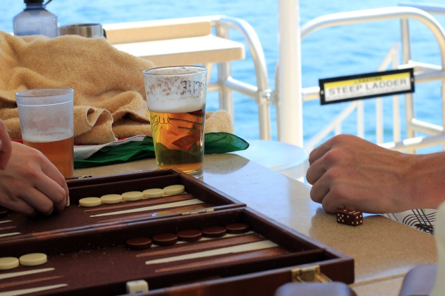 backgammon and beers