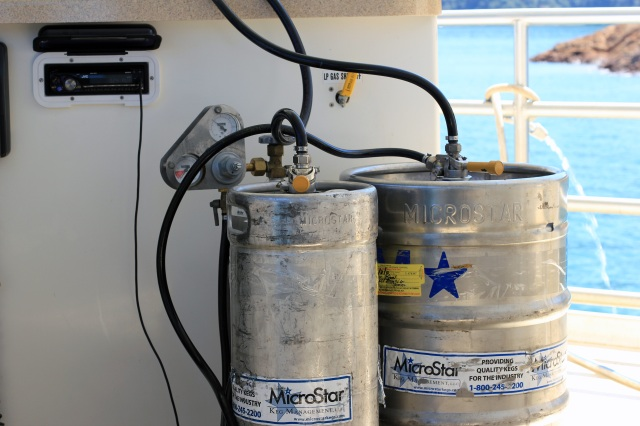 kegs on the houseboat