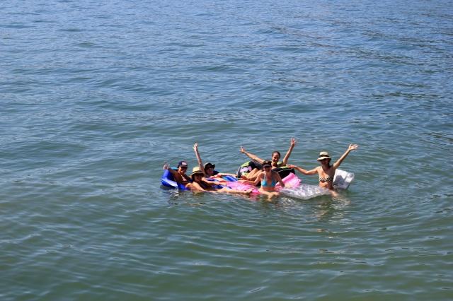 a flotilla of ladies
