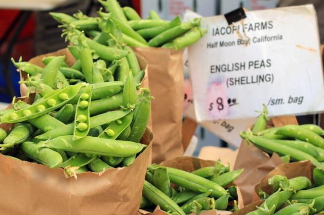 san francisco ferry building farmer's market peas