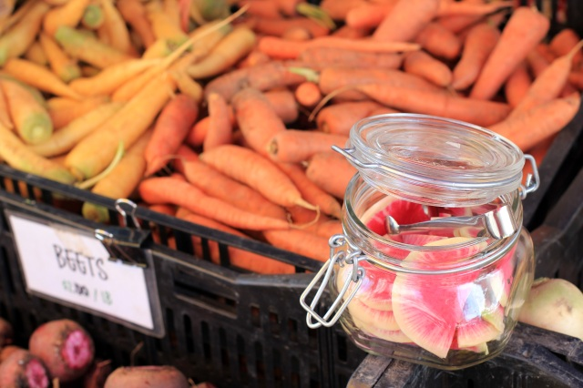 san francisco ferry building farmer's market carrots radish