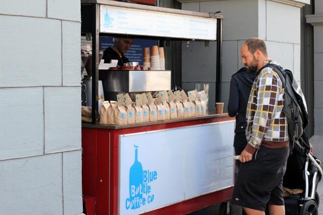 san francisco ferry building farmer's market blue bottle coffee stand