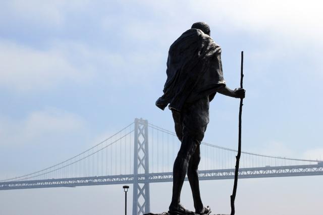 san francisco ferry building ghandi statue