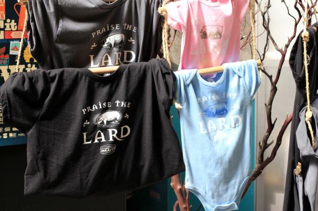 san francisco ferry building praise the lard t-shirts