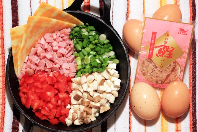 omelette mis en place