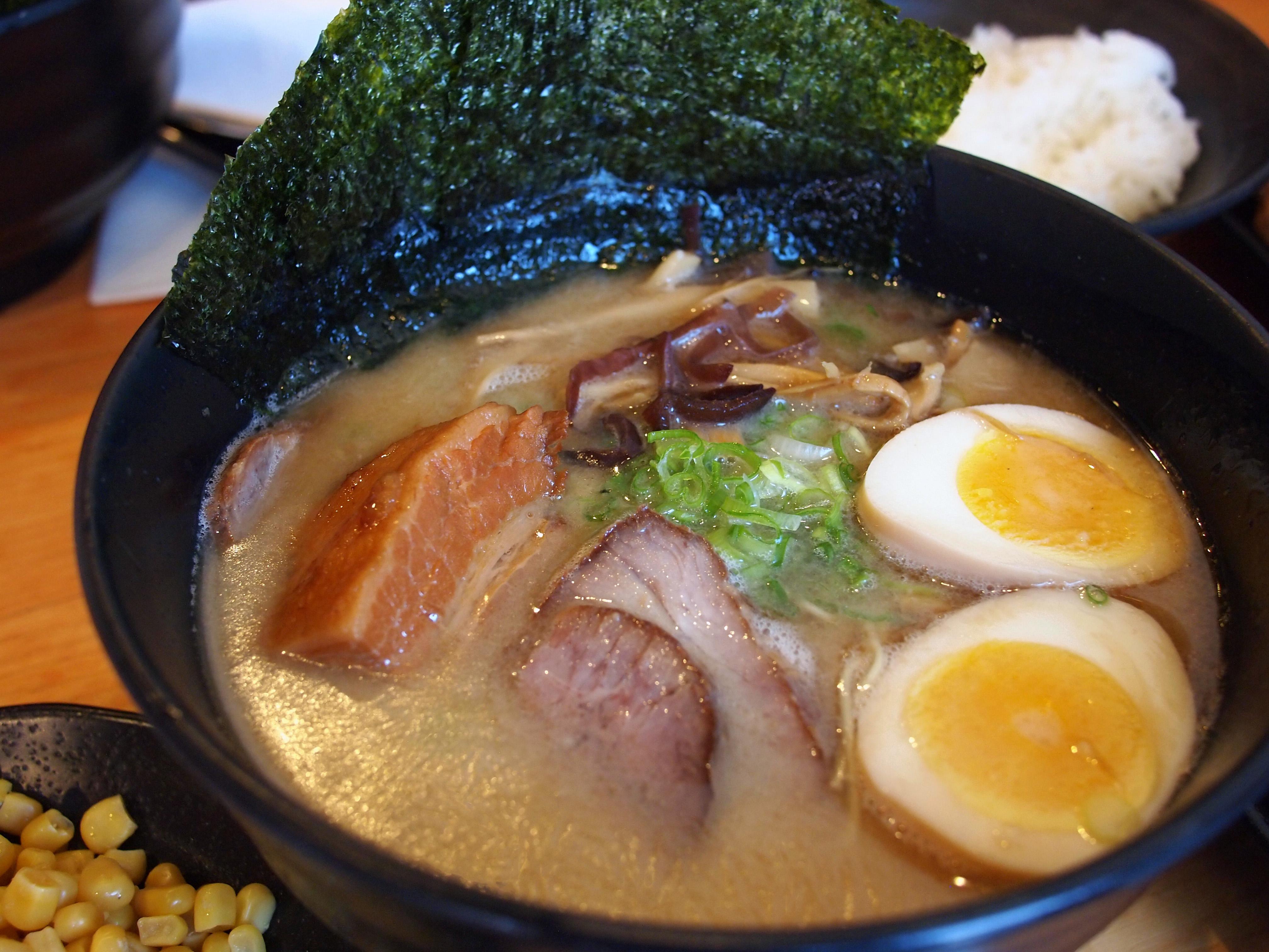 tonkotsu ramen | ramen yamadaya, culver city | kimchi con queso