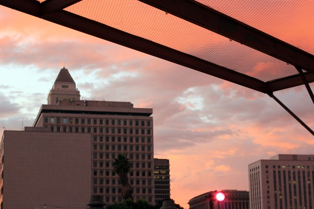 los angeles downtown sky