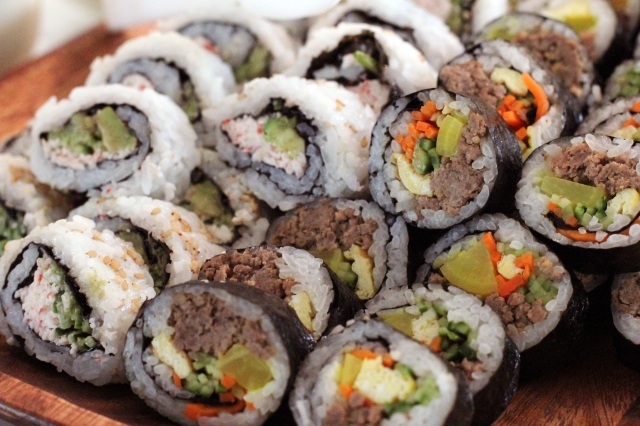 kim bap california roll