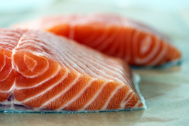 fresh salmon from santa monica seafood