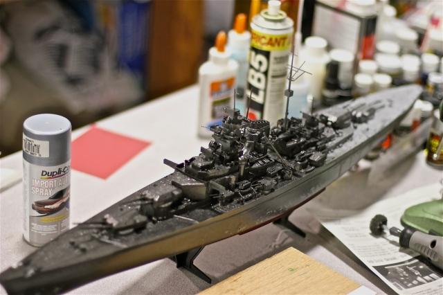 murdered out battleship model