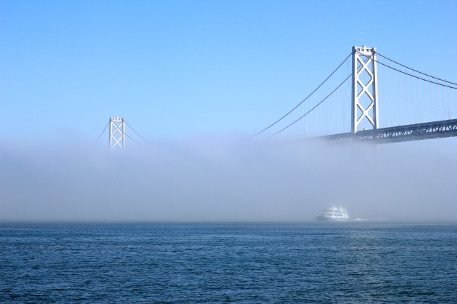 san francisco bay bridge fog