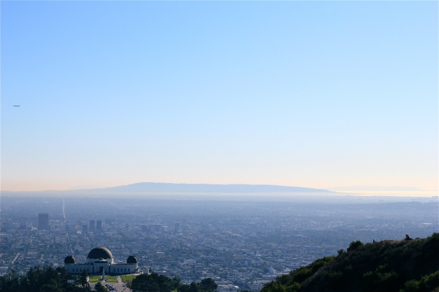 view of griffith park observatory