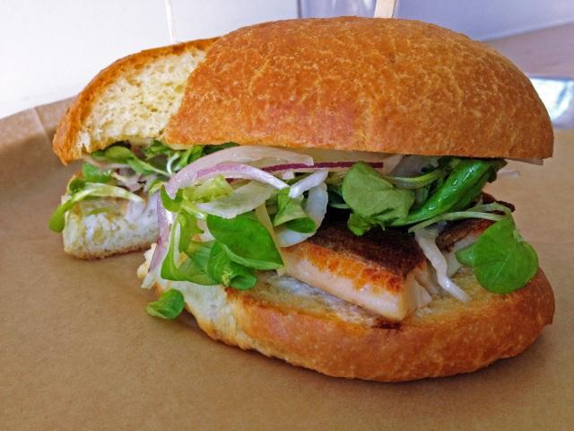 seared trout sandwich fundamental LA westwood