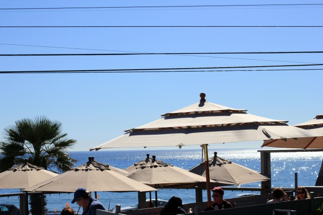 patio umbrellas at malibu seafood