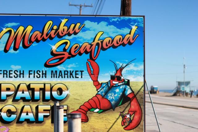 malibu seafood signage