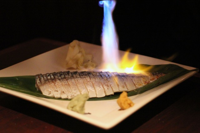 musha izakaya aburi saba seared mackerel