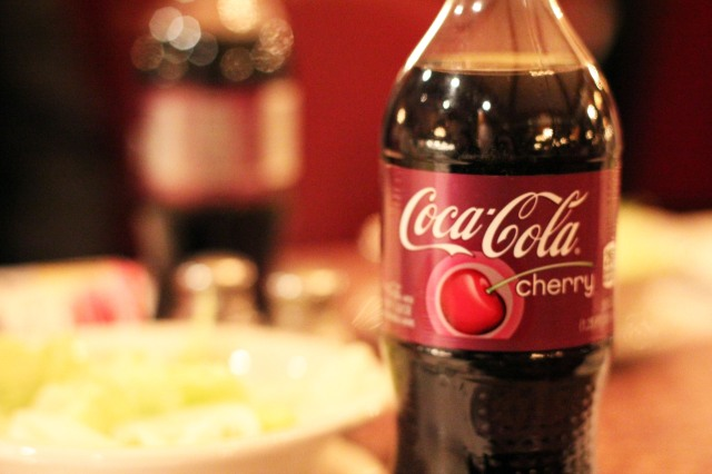 cherry coca cola bottle