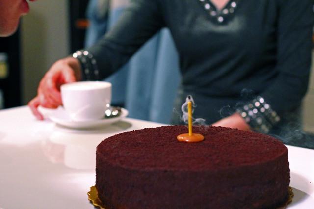 chocolate blackout cake birthday candle