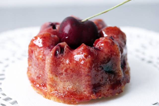 glazed cherry bundt cake