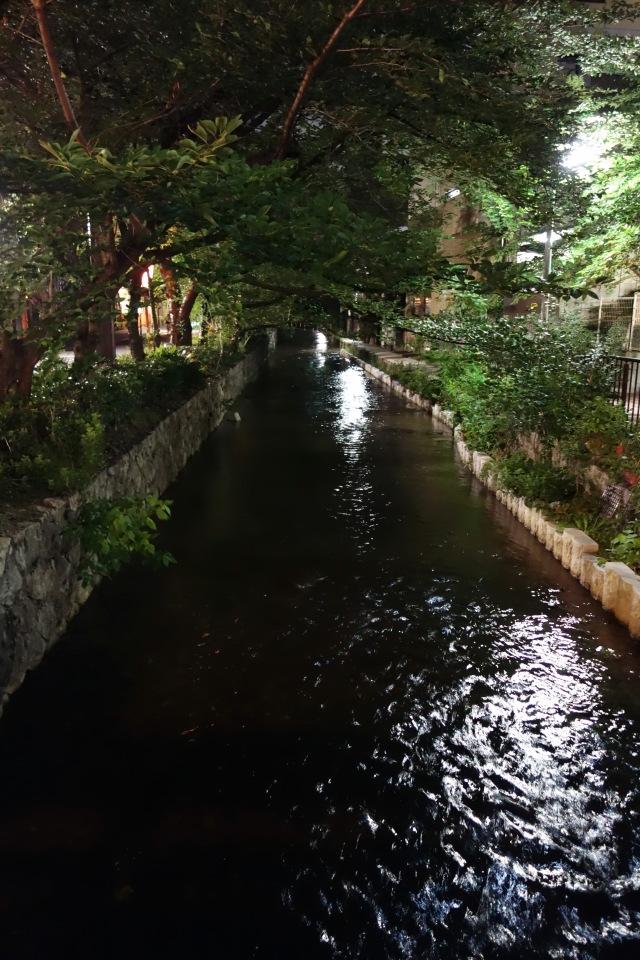 Takase-gawa canal night kyoto japan