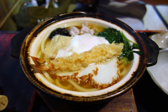 honke owariya kyoto japan nabe yaki udon