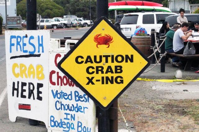 signage spud point crab company bodega bay