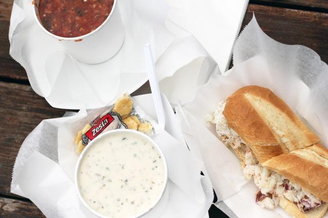 clam chowder crab sandwich roll spud point crab company bodega bay