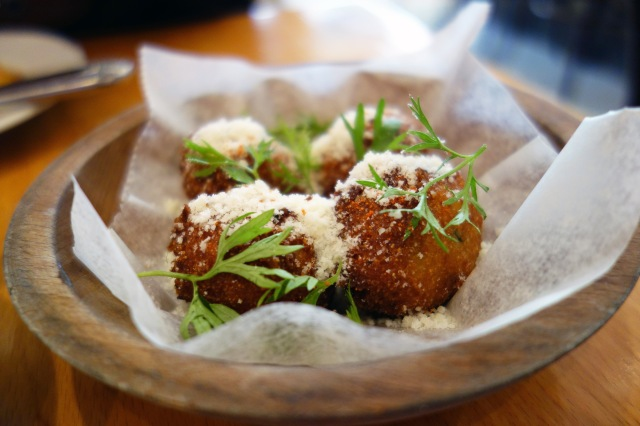 sweet corn frittelle with lime torrisi italian specialties nyc