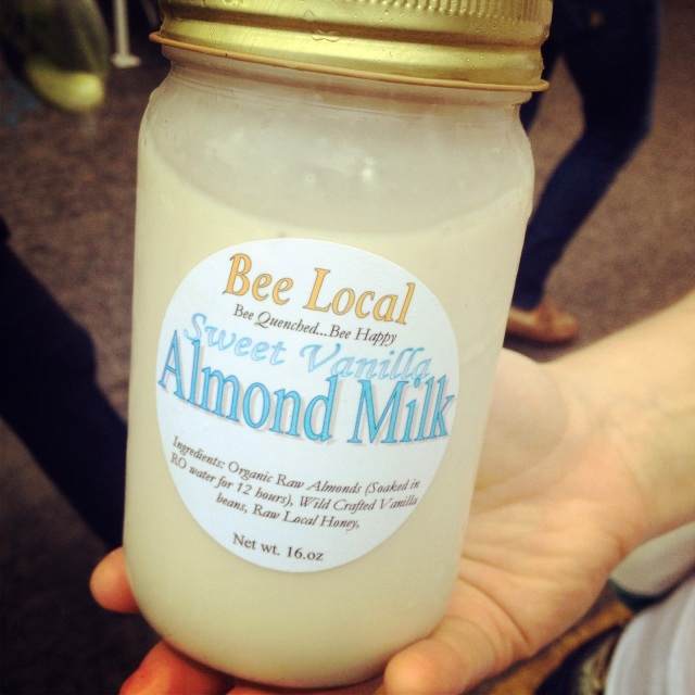 bee local almond milk santa monica farmers market